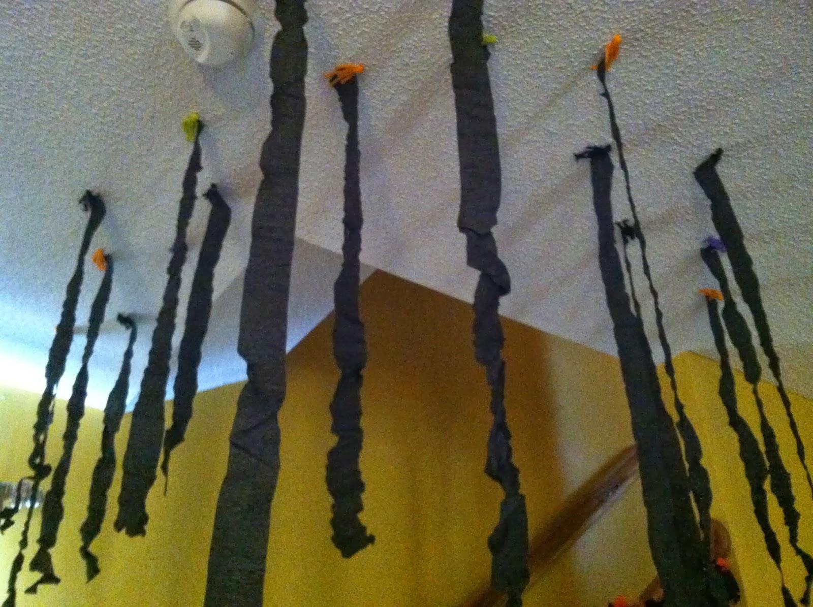 babyfingers halloween decorating diy spooky ceiling