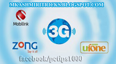 How To Use Free 3G On Jazz, uFone and Telenore (2015) In Urdu Tutorial By Mubshar KashmiRi