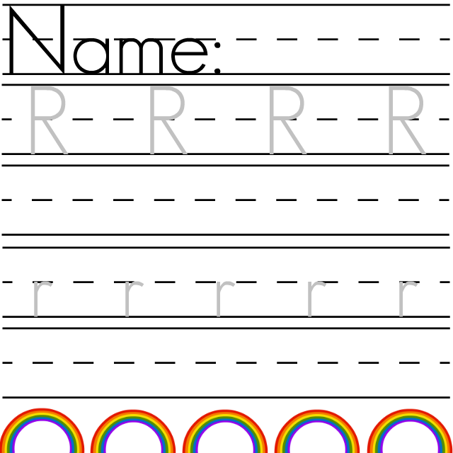 number names worksheets trace letter r the life of jennifer dawn r is for