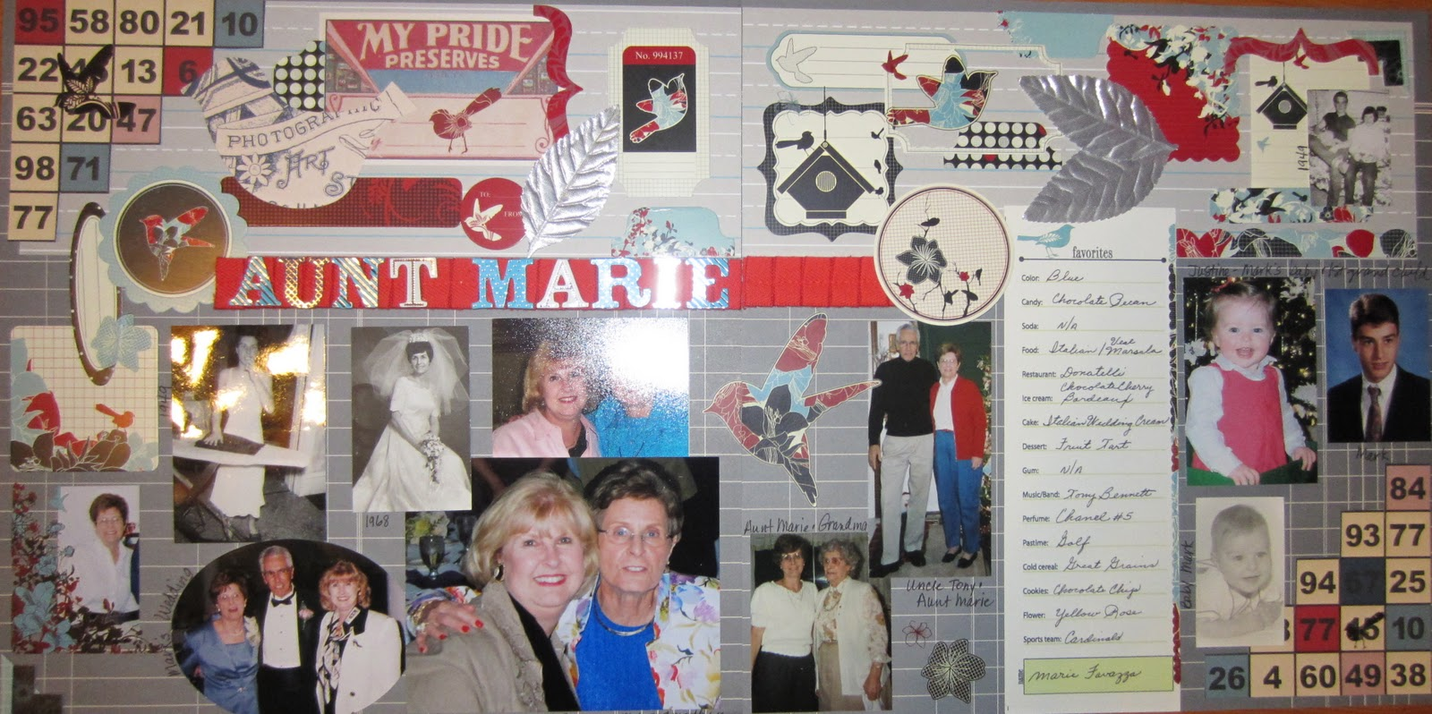 Ziplining scrapbook ideas - This Layout Is About Aunt Marie Mark And Justine