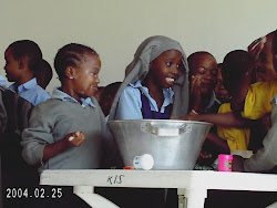 Kondoa children doing their science demo on cleaning the face!