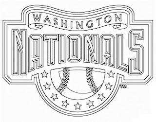 Escudo de los Nacionales de Washington para colorear