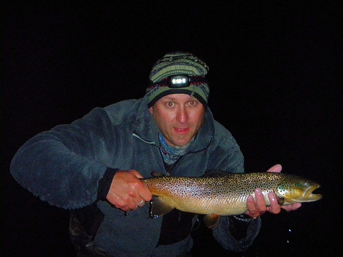 Fly fish addiction incredible fall fishing at night yes for Trout fishing at night