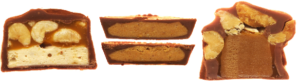 candy bars, scandybars, cross sections