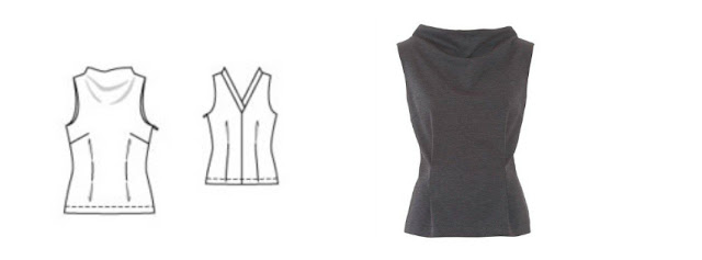 Burda 10/2015 #110 sleeveless high neck blouse www.loweryourpresserfoot.blogspot.com