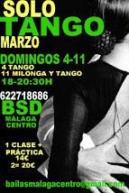 SOLO TANGO EXPRESS, 4 Y 11 MARZO EN BSD BAILAS SOCIAL DANCE MÁLAGA CENTRO.