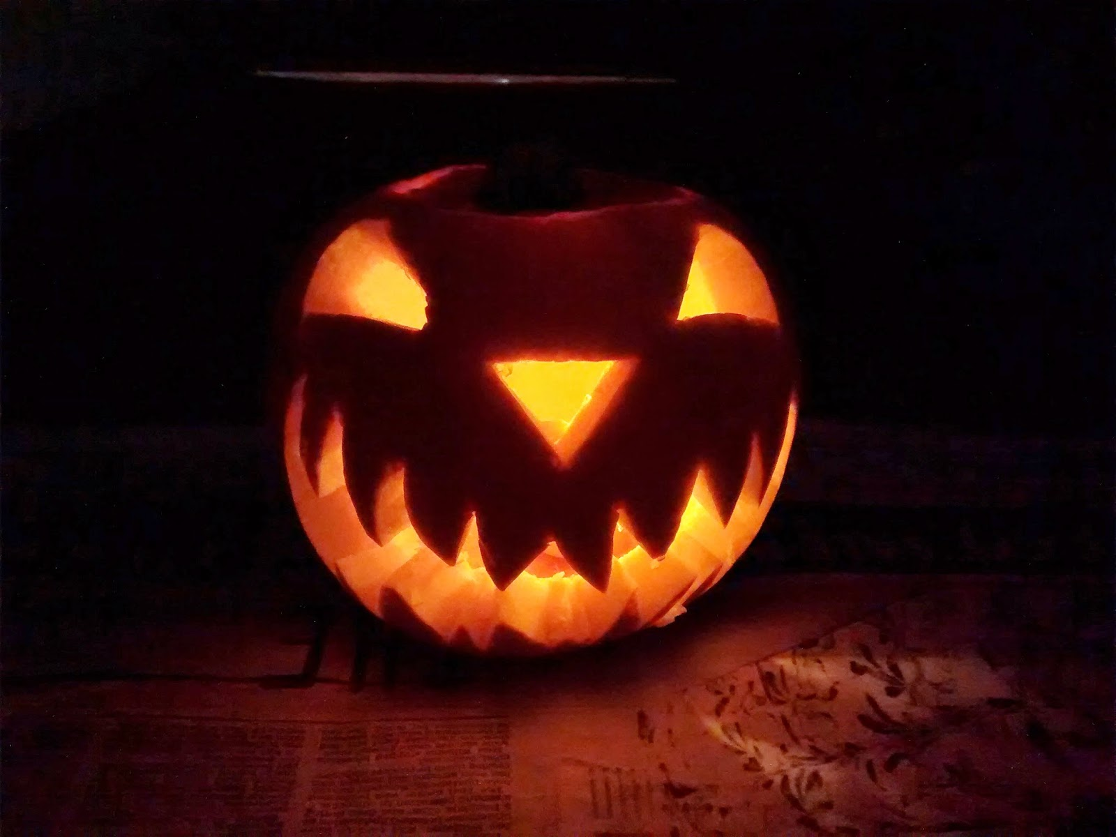 Halloween carved pumpkin