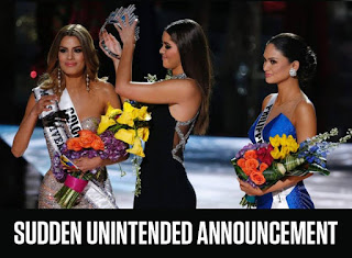 Miss Universe 2015 Crowning Moment announcement fail