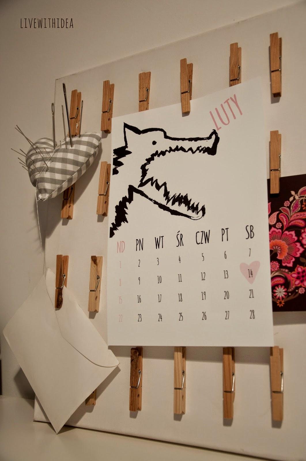 2015 wilk kalendarz