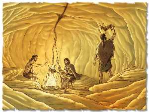"""Resultado de imagen de El hopmbre primitivo vicvía en cuevas"""""""