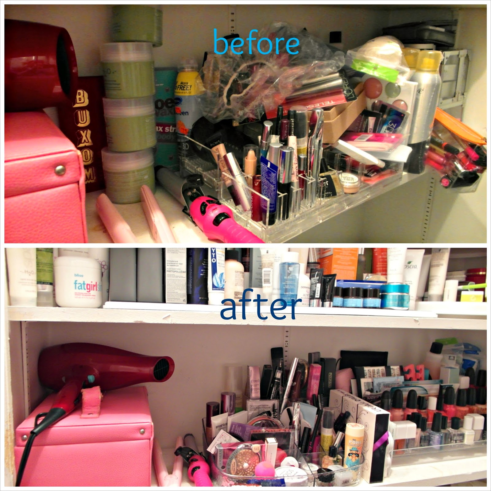 Beauty Product Storage Update