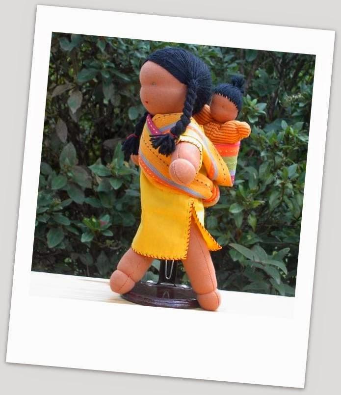 poupée portage couture indienne steiner waldorf marotte kit