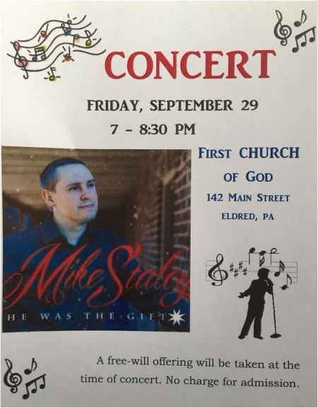 9-29 Concert at First Church of God