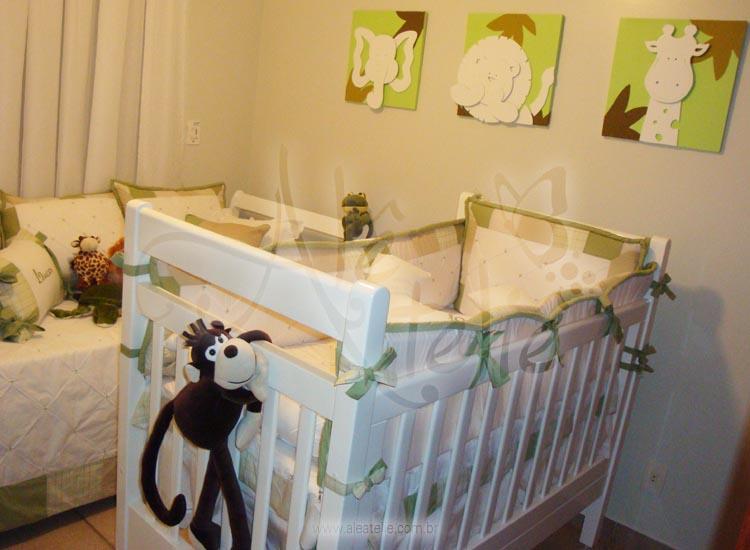 Quarto De Bebe Decorado Com Safari ~ de quartos de beb? Safari Lucas com quadros sobrepostos Kit de