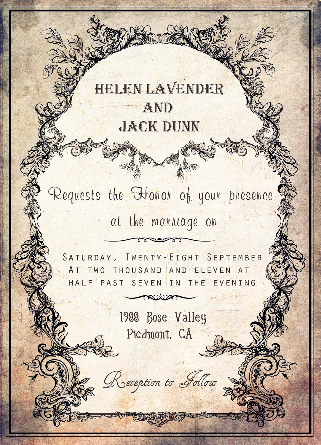 Wedding Invitation Template Peellandfmtk - Wedding invitation templates: western wedding invitation templates