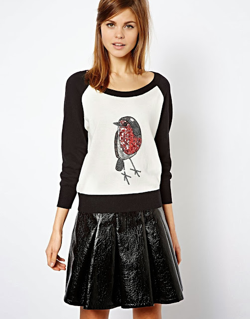 sequin bird jumper