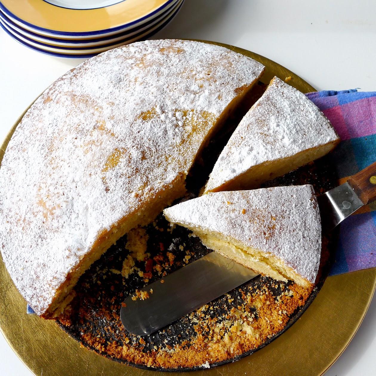 almond torte almond torte from santiago de la compostela torta