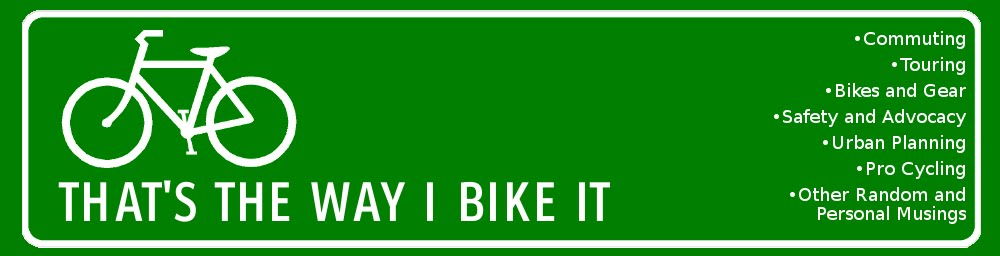 That's the Way I Bike It