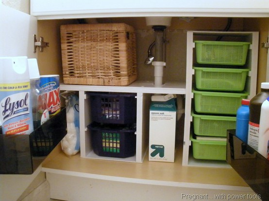 Our forever house 31 days to a functional kitchen day 6 for Bathroom under sink organizer