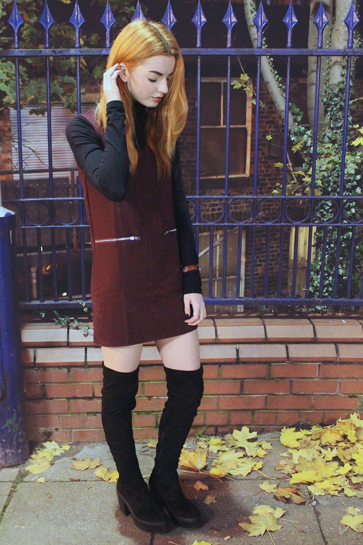 60s burgundy dress
