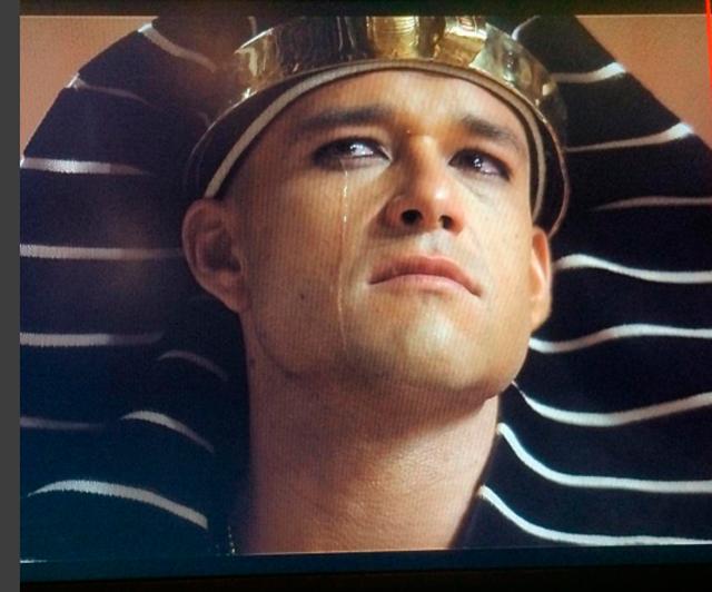 Sérgio Marone como o faraó Ramsés na novela Os Dez Mandamentos (foto: Instagram/reprodução