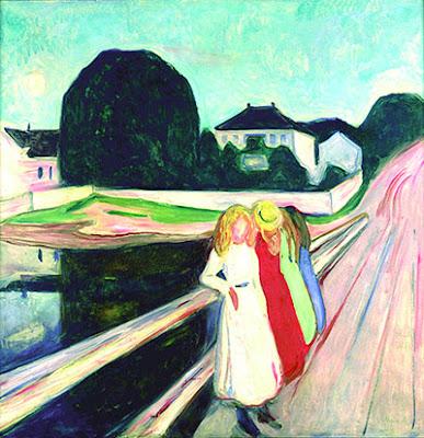 Munch -  Vier Mädchen auf der Brücke, 1905