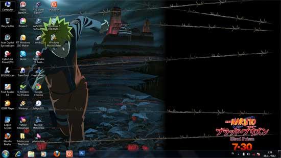 mengecilkan dan memperbesar icon desktop