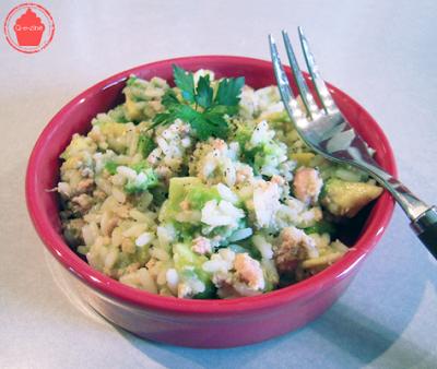 salade riz thon avocat