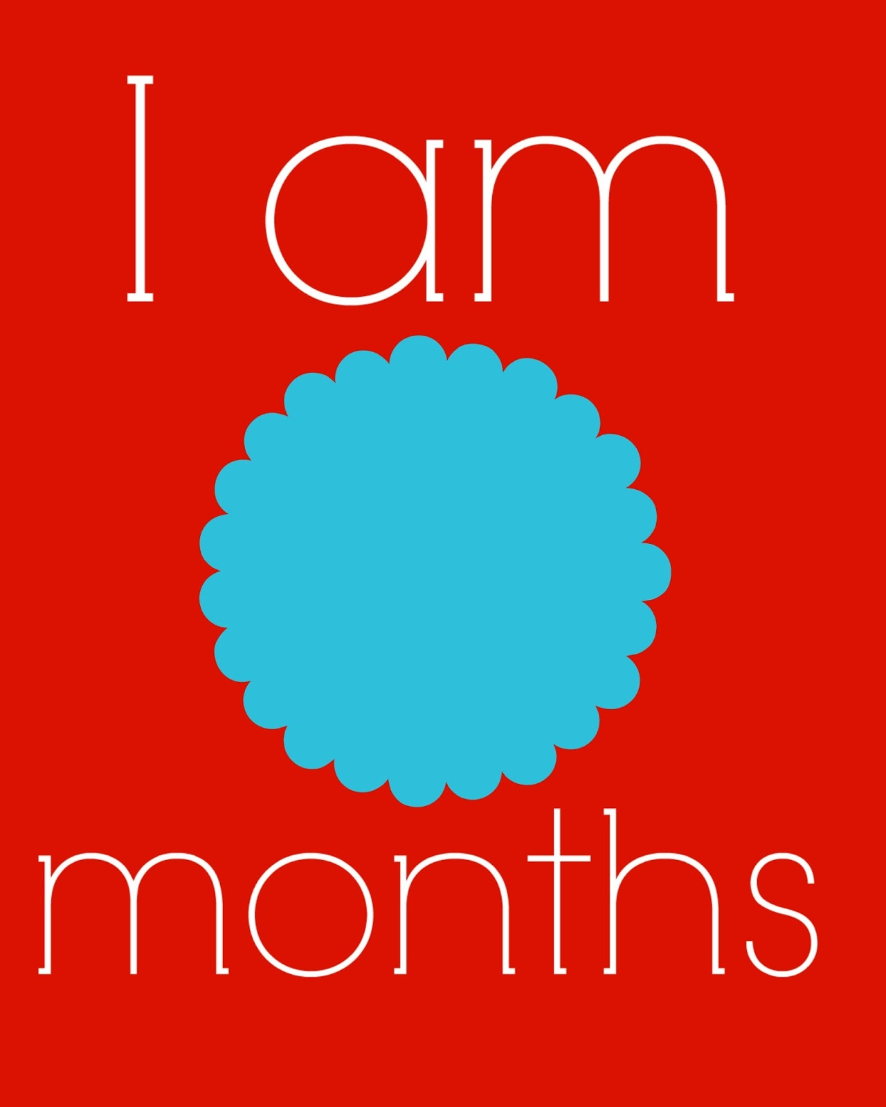 free baby month calendar printables
