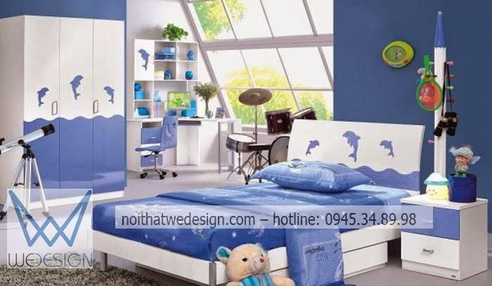 Phòng ngủ trẻ em hình cá heo
