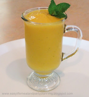 Mango Smoothie or Mango Cocktail by Easy Life Meal & Party Planning - a crisp and refreshing drink