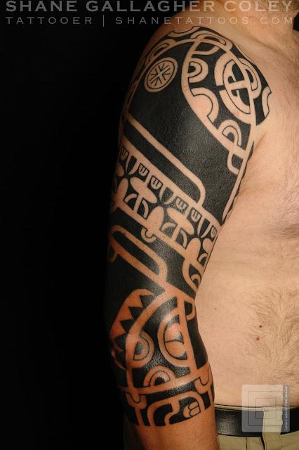 shane tattoos marquesan sleeve. Black Bedroom Furniture Sets. Home Design Ideas