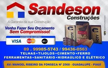 Sandeson Construções tudo em Material para Construção e Reforma