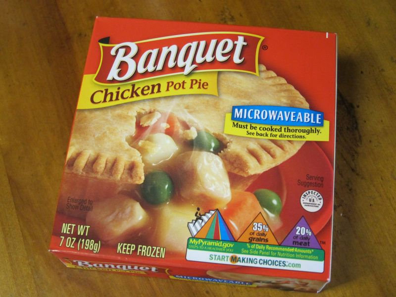 Banquet's Chicken Pot Pie is a budget pot pie option that provides 7 ...