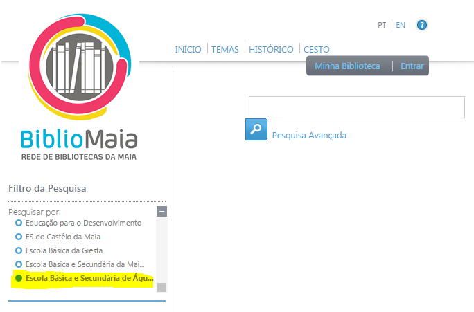 6a49e512100 Catálogo bibliográfico da Rede de Bibliotecas da Maia