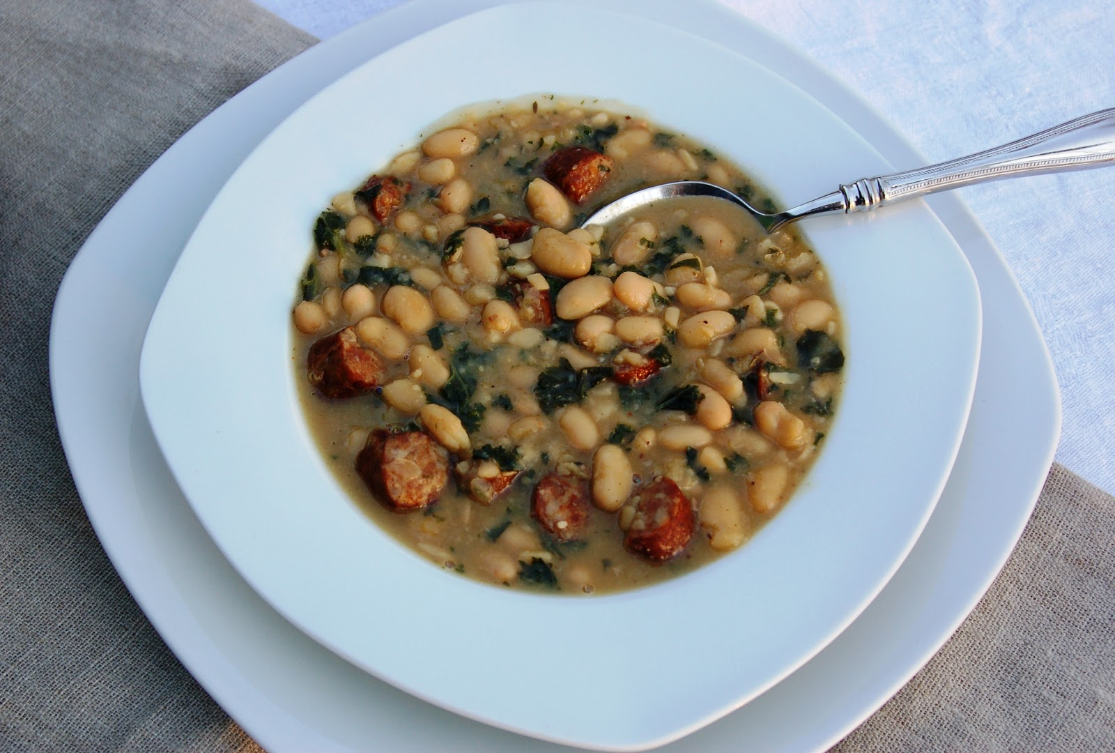 Another Marvelous Meal: Smoked Sausage, White Bean and Kale Soup