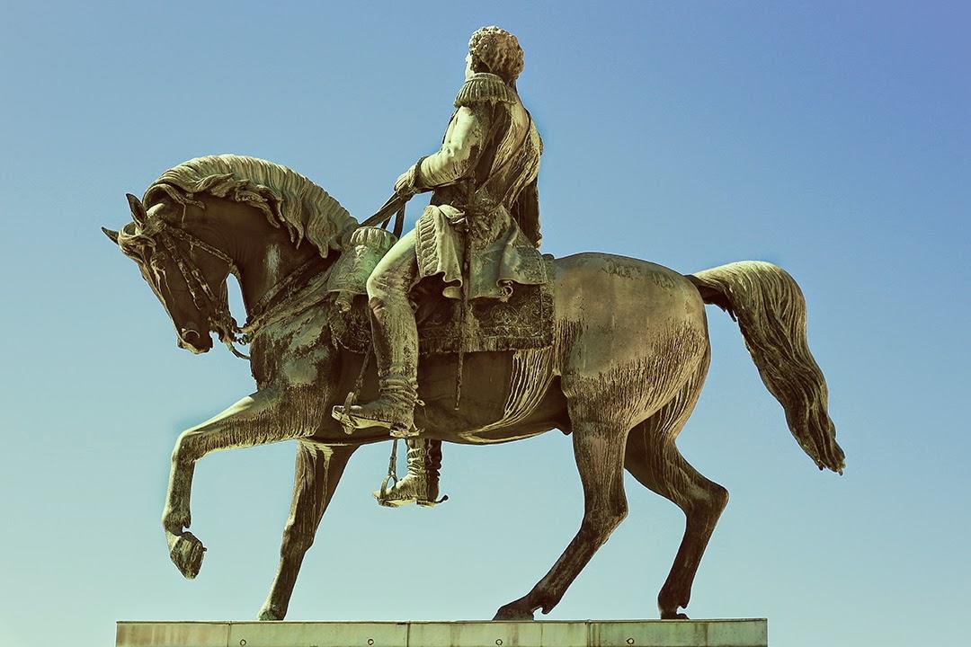 Pomnik Karola XIV Jana Oslo przed Pałacem Królewskim