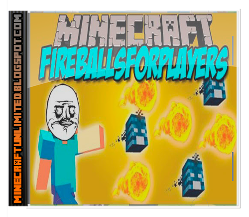 Fireballs for Players Mod Minecraft