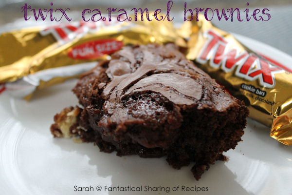 Twix Caramel Brownies - Ooey, gooey, chewy #brownies with a crunch of ...
