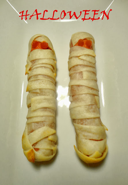 Momias de salchichas. Recetas para Halloween.