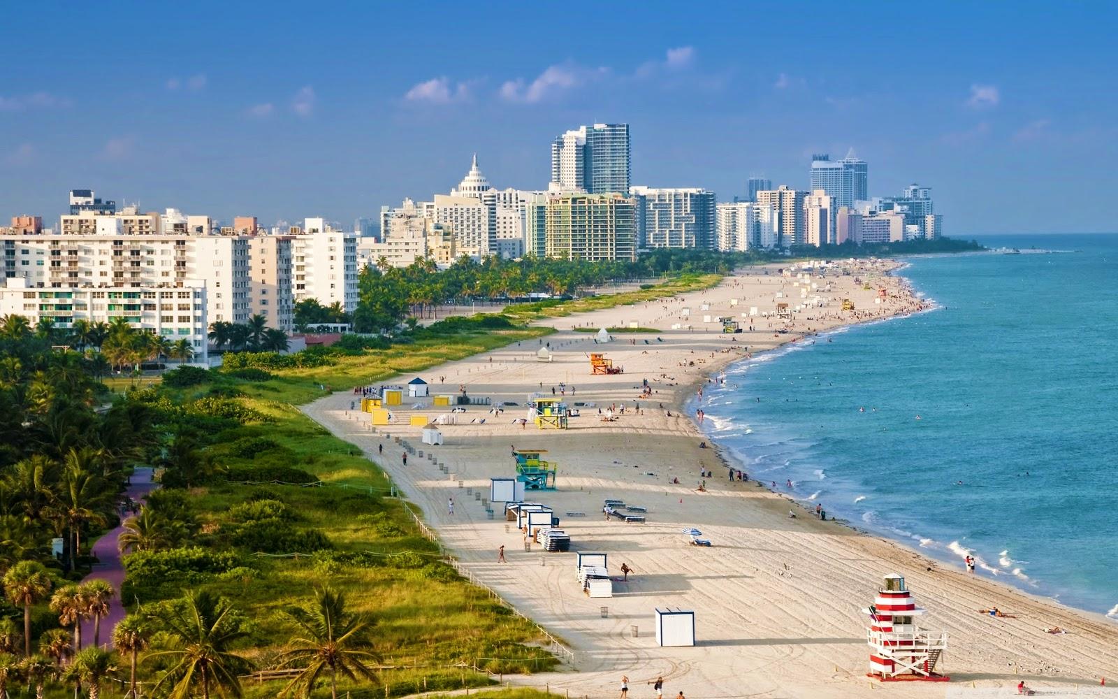 Papel de parede da praia de Miami Beach