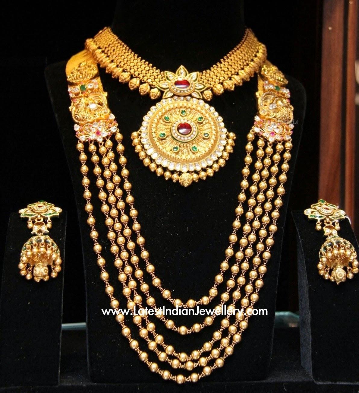 Latest Gold Necklace Haram Set