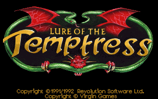 Lure of the Temptress DOS title screen