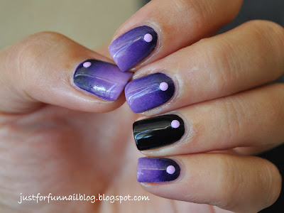purple gradient with bornpretty neon studs