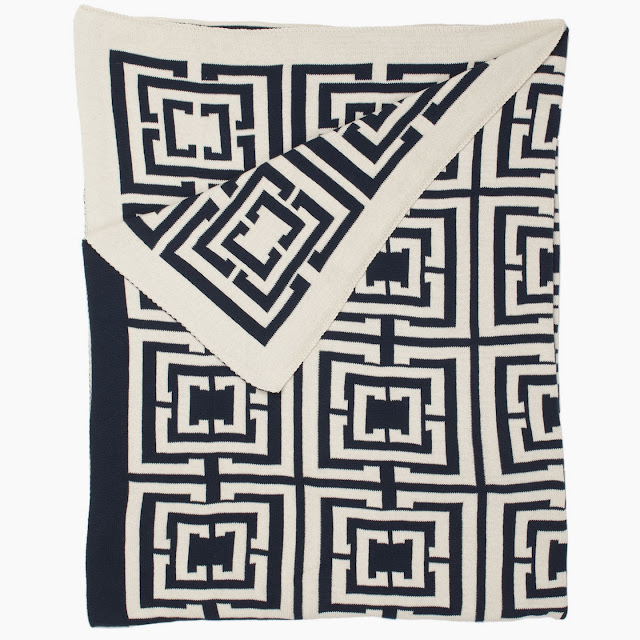 COCOCOZY Logo Throw in Navy