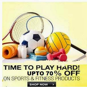 Flipkart: Buy Sports & Fitness Gear minimum 50% off from Rs. 99