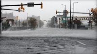 Sandy flooded streets