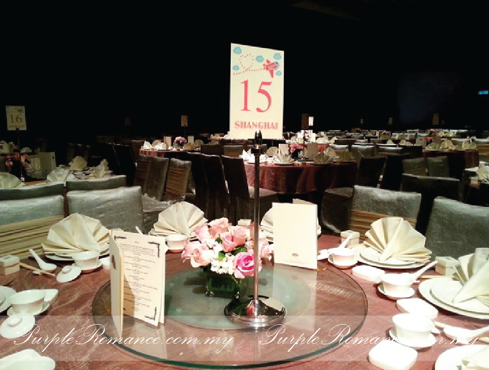 Floral Stands With Metal Lantern, Block Candles, IKEA, dangling pearls, stage decoration, Mandarin Oriental Hotel, Grand Ballroom, Kuala lumpur, Selangor, roses, table number, printing, travel around the world theme, decoration