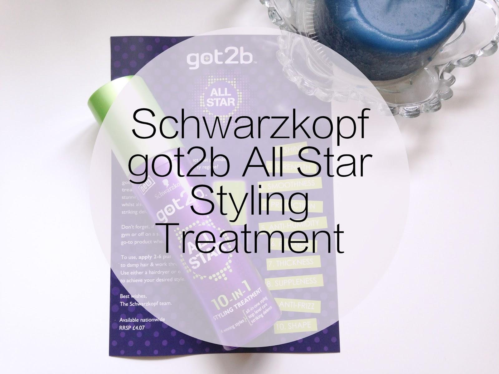Schwarzkopf got2b All Star Styling Treatment