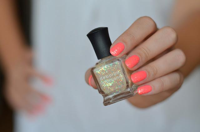 Duckling to swan glitter nail polish